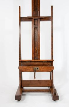 Large Victorian Oak Easel Winsor and Newton   From a unique collection of antique and modern easels at https://www.1stdibs.com/furniture/more-furniture-collectibles/easels/