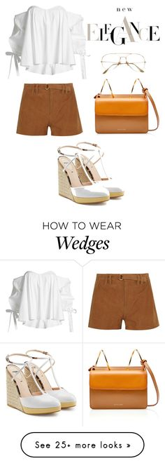 """elegance"" by daryana17 on Polyvore featuring Frame, Caroline Constas and Fendi"