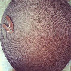 how to make a round rug... - Les Fleurs