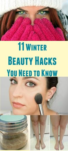 Stay beautiful this Winter with these beauty hacks. Everything from makeup and skin care to DIY tips! Every girl should know these to make her life easier.