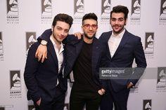 Singers Gianluca Ginoble, Piero Barone and Ignazio Boschetto of Il Volo attend Spotlight: Il Volo at The GRAMMY Museum on March 28, 2016 in Los Angeles, California.