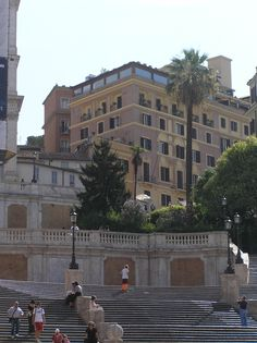 One of my favorite hotels!  Hotel Hassler in Rome. I stayed there with my father in the early 80's...right at the top of the Spanish Steps!