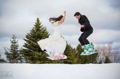 Come and see amazing after the wedding photos on snow. Bride and Groom playing on snowboard at Mt. Great idea for winter photo shoot. Snowboard Wedding, Couple Photography, Wedding Photography, Winter Wedding Inspiration, Wedding Proposals, Winter Kids, Winter Theme, Wedding Photos, Wedding Ideas