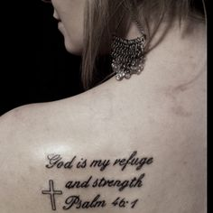 I love my new tattoo! It's my favorite Bible verse:)