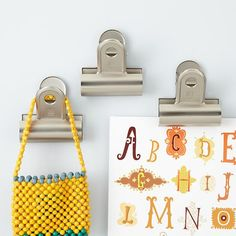 Wall Clip (Set of 3). Jumbo, wall-mounted clips need no introduction. Ideal for hanging artwork or memos. $18/3