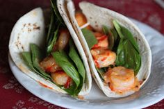 Tortillas and Honey: Spicy Bang Bang Shrimp Tacos