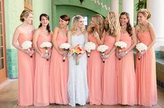 Peach Miami Wedding from Captured Photography - Southern Weddings