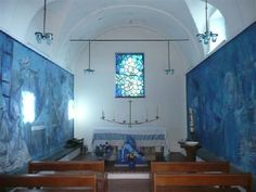 La chapelle bleue. Coaraze. Alpes-Maritimes