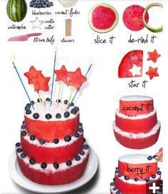 Watermelon cake! | Cake Decoration Ideas