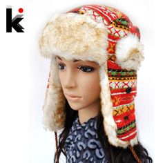 Free shopping 2015 Winter Hat  fashion thickening thermal yarn lei feng cap ear  hats for women caps