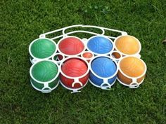 Vintage Bälle - Boccia, Boule, Kugeln, Spiel, Out. My Childhood Memories, Childhood Toys, Sweet Memories, Retro Toys, Vintage Toys, Good Old Times, My Memory, Toys For Girls, Games For Kids