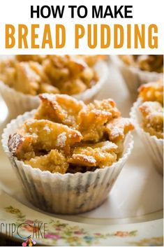 I enjoy my bread in any form, and bread pudding is one of my favorite desserts. When I had some leftover homemade crumpets, bread pudding immediately came to mind. Best Dessert Recipes, Cheesecake Recipes, Fun Desserts, Sweet Recipes, Delicious Desserts, Recipes Dinner, Yummy Recipes, Kitchen Recipes, Gourmet Recipes