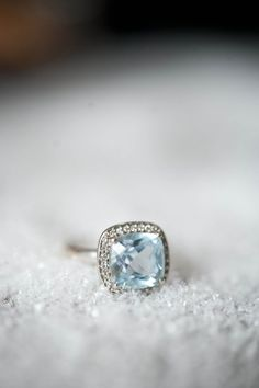 Absolutely stunning blue diamond engagement ring. This is lovely.
