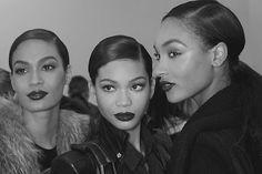 Photography-Black&White-Fashion-Models-Joan Smalls, Chanel Iman and Jordan Dunn