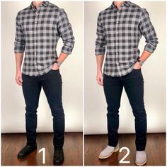 Flannel Shirt Outfit, Flannel Shirts, Mode Man, How To Wear Flannels, Herren Outfit, Business Casual Men, Men Style Tips, Mens Fashion Suits, Mens Clothing Styles