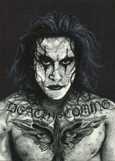 the crow thecrow movie inked ikons inkedikons tattoo death brandonlee brandon lee comic book