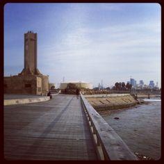Reading power station and the yarkon river boardwalk.