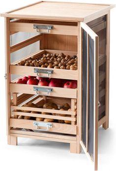 Armário de armazenamento # wood # storage in 2020 Kitchen Organisation, Diy Kitchen Storage, Home Organization, Food Storage, Storage Containers, Organizing, Diy Bathroom Decor, Home Decor Kitchen, Pantry Design