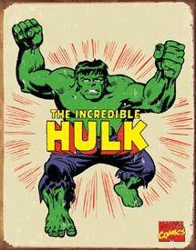 TIN SIGN Hulk Retro