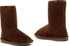 Womens Abound Sasha Dark Brown Short Genuine Shearling Suede Boot 6M MSRP $98.00 #Abound #Comfort #Casual
