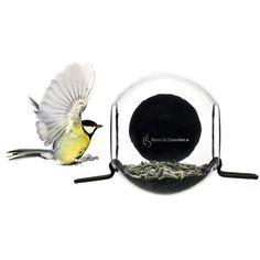 Fuglemateren monteres på vinduet ved hjelp av en dobbel sort sugekopp. Den er designet for sm&#...