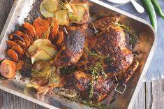 Tandoori Chicken, Pork, Turkey, Meat, Ethnic Recipes, Red Peppers, Kale Stir Fry, Turkey Country, Pork Chops