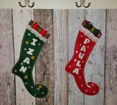 Resultado de imagen para botas de navidad con moldes