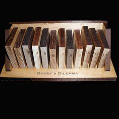 Dewey's Dilemma A Unique and Artistic Logic Wood by dj51florida, $24.00