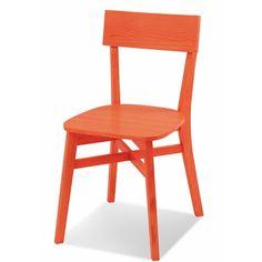 Cadeira Bell 3717 Sem Braco Cor Laranja Lavado.      - Em madeira 100% ecológica; - Encosto Multi-laminado de pinus; - Acabamento em verniz PU.
