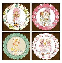 Sarah Key, Sara Key Imagenes, Baby Animal Drawings, Ideas Para Fiestas, Bunt, Free Printables, Little Girls, Hello Kitty, Scrapbook