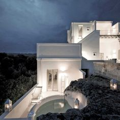 Private swimmingpool at Masseria Alchimia -