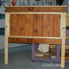 Easy headboard from