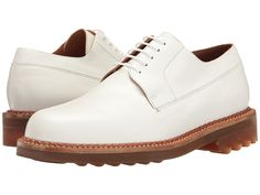 ROBERT CLERGERIE ROBERT CLERGERIE - DOC OXFORD (WHITE) MEN'S LACE UP WING  TIP SHOES