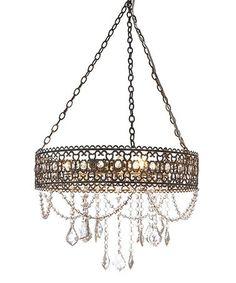 Look what I found on #zulily! Graywash Hanging Filigree Three-Light Chandelier. #zulilyfinds