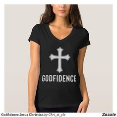 Godfidence Jesus Christian T-Shirt Women Of Faith, Christian Clothing, Casual Wear, Fitness Models, Outfit Ideas, T Shirts For Women, Female, How To Wear, Outfits