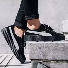 NEW PUMA X RIHANNA FENTY Creeper sneaker W9.5 M8 Brand new without box. These are the men's sizing in the creepers. Mens Sz 8 fits a women's 9.5 perfectly. Or purchase for hubby if he wears an 8. These are soooo Fire! Puma Shoes