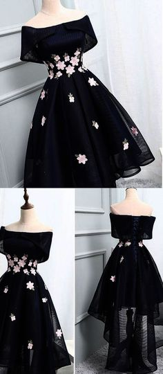 Off-the-Shoulder Black Organza Homecoming Dresses With Handmade Flower ,Cheap Short Prom Dresses · Starry Girl Dress · Online Store Powered by Storenvy Mode Outfits, Dress Outfits, Fashion Outfits, 1950s Fashion Dresses, Dress Fashion, 1950s Dresses, Ladies Fashion, Fashion Purses, Fashion Heels