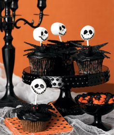 Jack Skellington Cupcakes <3