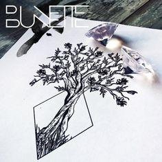 "83 curtidas, 4 comentários - Bunette (@thebunettedesigns) no Instagram: ""#treetattoo #tattooidea #tattooinspiration #foresttattoo #naturetattoo #tree #bunette…"""