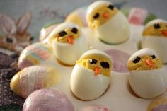 I usually make deviled eggs once or twice after Easter.  These are cute - maybe my kids will actually eat them if I make chicks.
