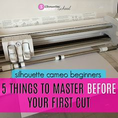 How (and Why) to use a Graphtec Blade with Silhouette CAMEO or Portrait - Silhouette School Silhouette Cameo Tutorials, Free Silhouette Designs, Silhouette Portrait Projects, Silouette Cameo Projects, Silhouette Curio, Silhouette Vinyl, Silhouette Machine, Silhouette America, Silhouette Files