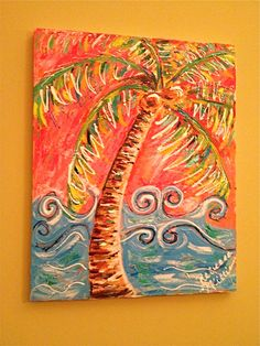Palm Tree painting  16x20  $150 Becky Williams art work Facebook