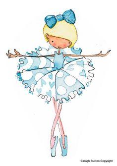 Betty Blue Ballerina Print