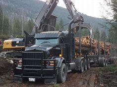 Heavy Construction Equipment, Heavy Equipment, Custom Big Rigs, Custom Trucks, Semi Trucks, Big Trucks, Logging Equipment, Road Train, Kenworth Trucks