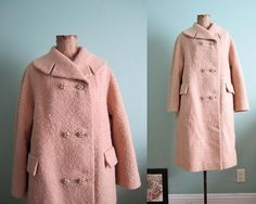 SALE 1950s coat/ 50s swing coat/ camel beige 1960s by MILKTEETHS, $86.00