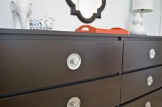 Before & After: Mid-Century Inspired Dresser Knobs from Mason Jar Lids