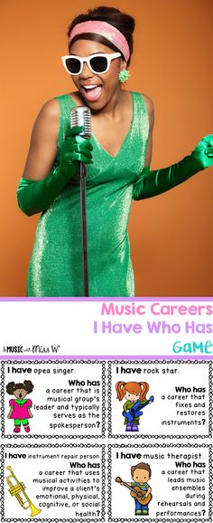 Such a fun game to use as a part of your music careers unit or lesson plan! Dream Music, Music Is Life, Music Music, Music Games, Middle School Music, Music Education, Primary Education, Music Activities, Elementary Music
