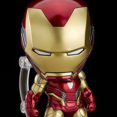 "Presenting a Nendoroid of Iron Man Mark From ""Avengers: Endgame"" comes a DX Nendoroid of Iron Man Mark The Nendoroid features full articulation and metallic paintwork, making for an impressively detailed recreation. Chibi Marvel, Iron Man Suit, Avengers Wallpaper, Captain America, Ali, Poses, Superhero, Metal, Capitan America"