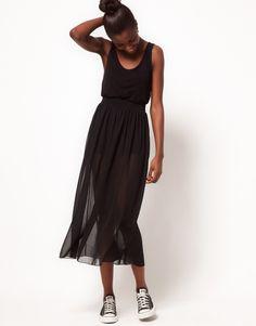 American Apparel Sheer Maxi Skirt