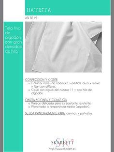 El dossier de las telas Skarlett Fabric Yarn, How To Dye Fabric, Fashion Sewing, Fashion Fabric, How To Make Clothes, Diy Clothes, Sewing Hacks, Sewing Projects, Sewing School